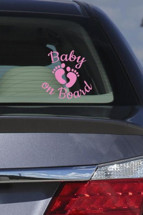 Baby on Board vinyl sticker, decals for car, cute baby stickers, any color vinyl decals for car