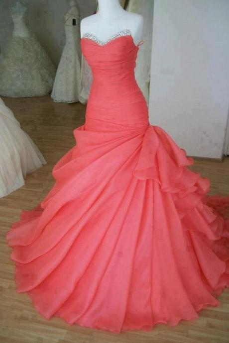 Gorgeous Ball Gown Sweetheart Sweep Train Prom Dress,Sweet 16 dress,Ball Prom Dresses