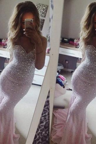 mermaid prom dress, pink prom dress, sweet heart prom dress, evening dress, gorgeous prom dress, affordable prom dress, BD215