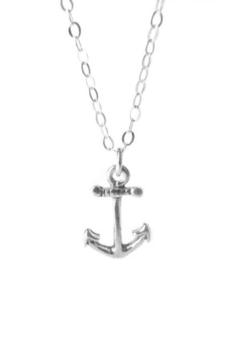 Anchor Necklace - Sterling Silver Anchor - Ancora