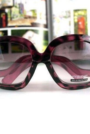 Leopard Unique Frame New purple Fashion Sunglasses