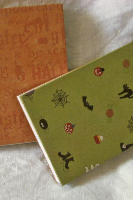 Halloween Fun - Two Little Notebooks Set, 3x4ins