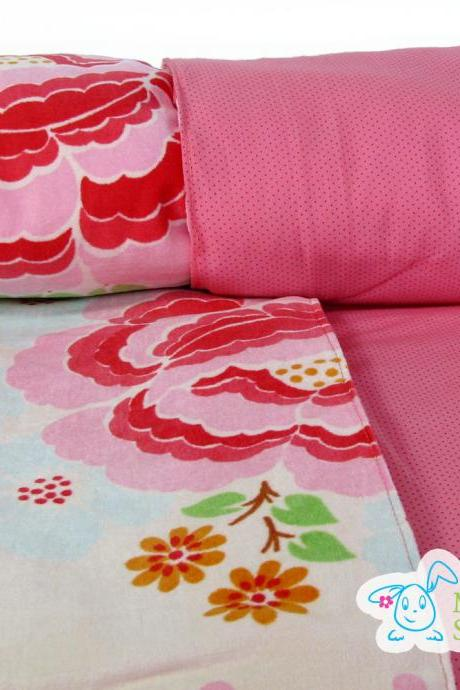 Pink Rose Original Oilily Fabric Luxurious Baby Blanket