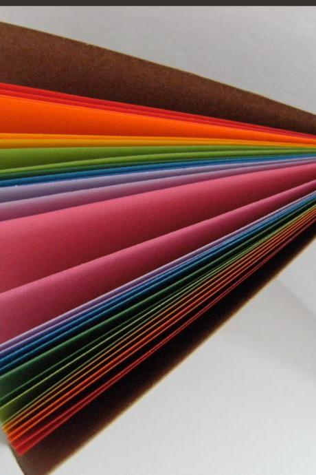 Rainbow Notebook - Moleskine style Notebook with Rainbow Pages - 6x4 ins