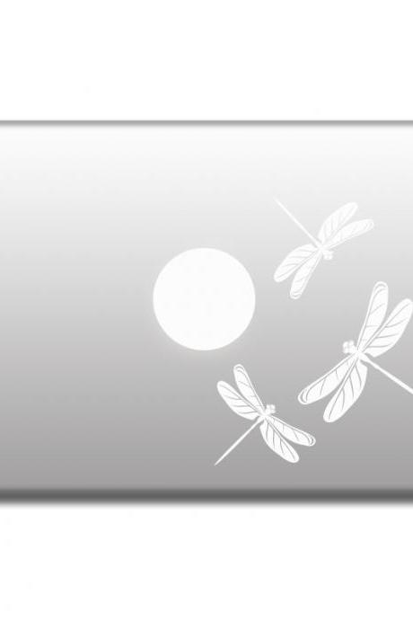 Dragonflies vinyl stickers for laptop, decals for MacBook, car, window, door, wals