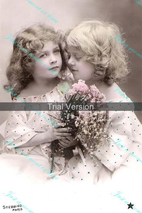 Digital download 300 dpi adorable French cherubs