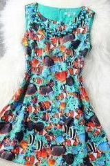 2015 summer Retro Print Dress