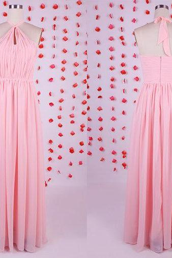 2015 Newest design bridesmaid dress, pink bridesmaid dress, chiffon bridesmaid dress,long bridesmaid dresses,affordable wedding guest dresses,beautiful evening gowns, BD050608