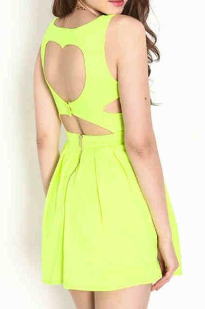 2015 summer Sexy Pretty Back Heart Exposed Dresses