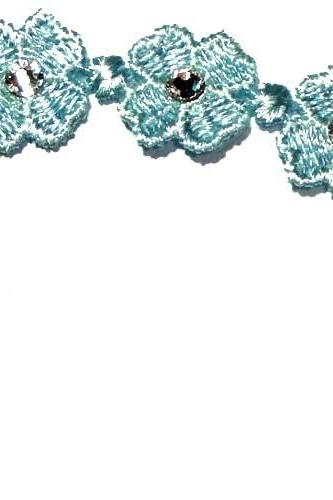 Swarovski light blue Clover Lucky Friendship macrame Bracelet with clasp closure