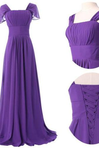 2015 fashion full length chiffon prom Dresses evening dress Bridesmaid dresses custom made L131