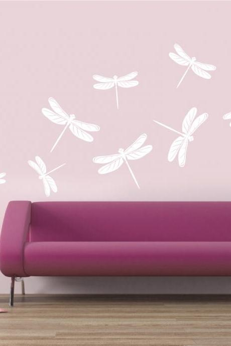 Dragonflies for Wall, Vinyl decals for wall, unique stickers, art vinyl, home decoration