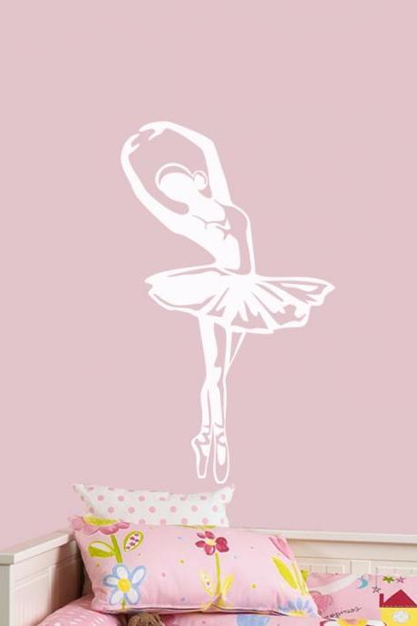 Ballerina sticker for Wall, Art ballet vinyl decals, Girls Room Decoration , Dancer Wall stickers