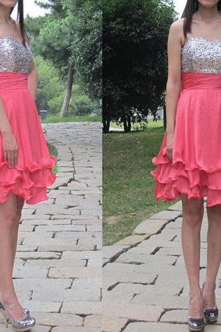 short prom dress,Custom made prom dresses,chiffon prom dresses,party dress,short evening dress,homecoming dress,BD050715