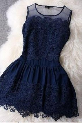Cute Summer Lace Short Stylish Summer Dresses 2017, Summer Dresses 2017, High Quality Summer Dresses in Stock
