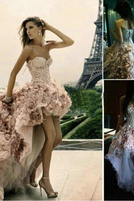 Pink Wedding Dresses,Court train Wedding Gowns,Long Wedding Dresses,Wedding Dresses 2015,Beading Pageant Dresses,Prom Gowns