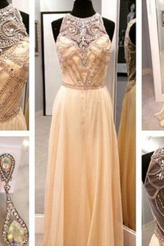 fantastic prom dress, formal prom dress, chiffon prom dress, lovely prom dress, beading prom dress, handmade dress, BD257