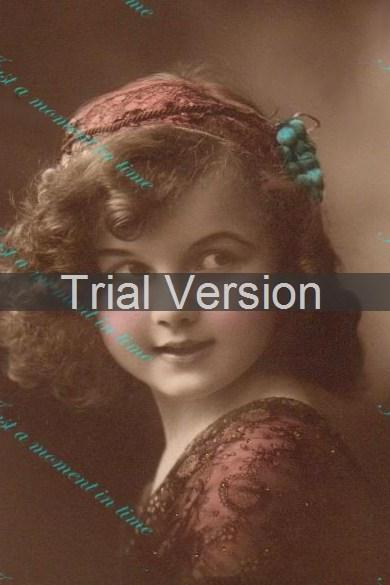 Beautiful child from 1920's vintage French image digital download 300 dpi