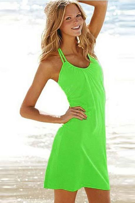 Backless Bikini Cover-up Beach Dress