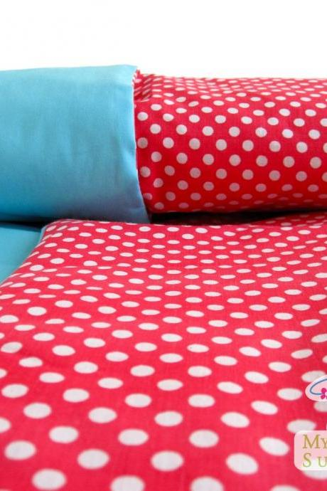 Red Polka Dot Baby Blanket