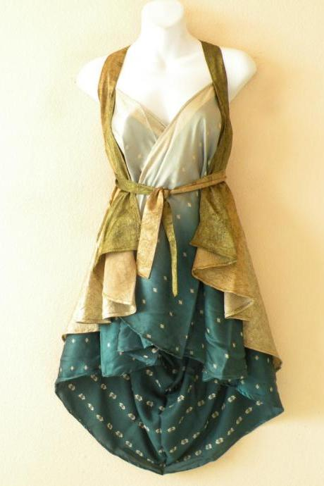 "B85 Vintage Silk Magic 20"" Length Long Wrap Skirt Halter Tube Maxi Dress + DVD"