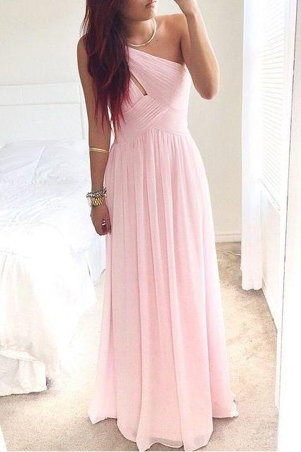 Pd584 High Quality Prom Dress,Brief Prom Dress,One-Shoulder Prom Dress,Chiffon Prom Dress,A-Line Prom Dress