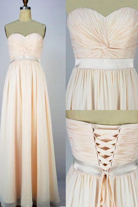 Bridesmaid dress, long bridesmaid dress, lace up bridesmaid dress, chiffon bridesmaid dress, cheap bridesmaid dress, BD286