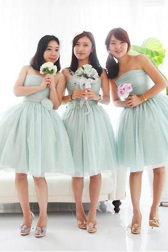 tulle bridesmaid dress, short bridesmaid dress, bridesmaid dress, discount bridesmaid dress, pretty bridesmaid dress, BD297