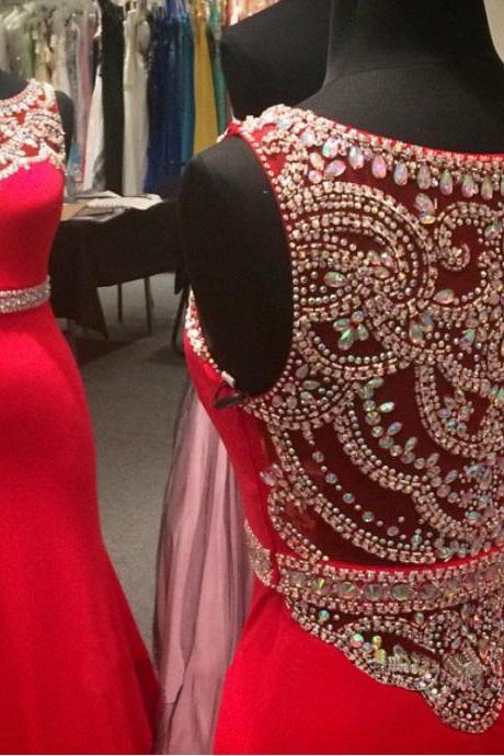 red prom dress, off shoulder prom dress, prom dress 2015, cheap prom dress, sparkly prom dress, modest prom dress, handmade prom dress, BD298
