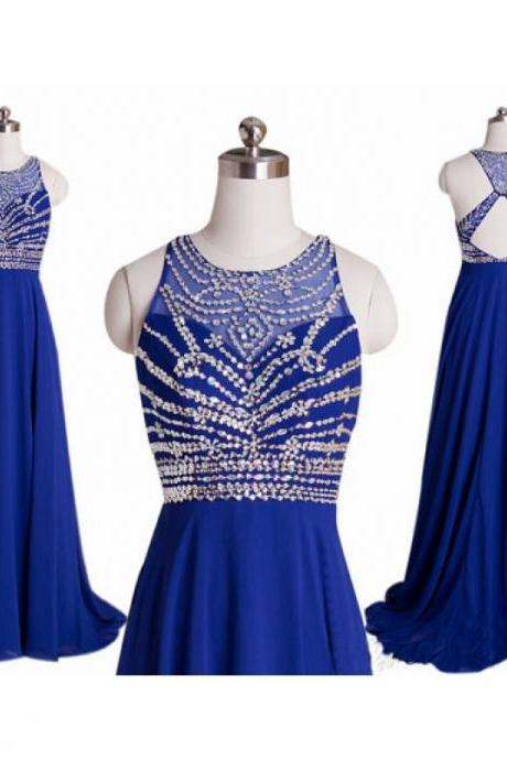 blue prom dresses, blue evening dress, chiffon evening dress, unique prom dresses, sexy prom dresses, 2015 prom dresses, popular prom dresses, dresses for prom, CM523