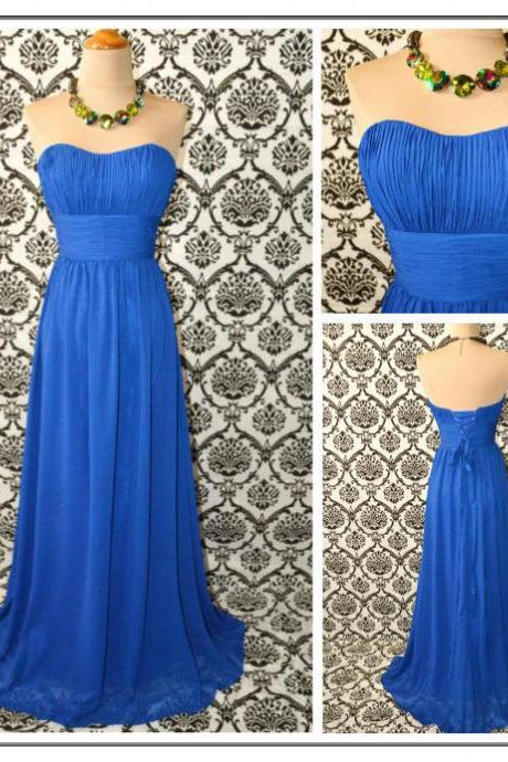 blue bridesmaid dress, sweet heart bridesmaid dress, chiffon bridesmaid dress, prom dress, cheap prom dress, bridesmaid dress, BD319
