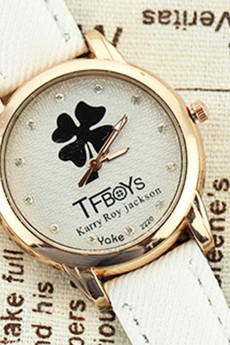 Fashion students watch TFboys Clover ladies watches