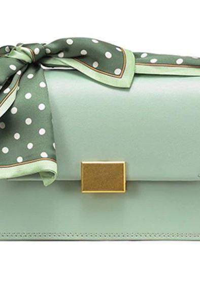 Top Quality Leather Bags for Women Mintgreen Shoulder Bags Polka Dot Durable Mint Green Luxury Purses for Women