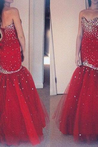 sweet heart prom dress, red prom dress, prom dress, mermaid prom dress, sparkly prom dress, lace up prom dress, evening dress, gorgeous prom dress, BD327