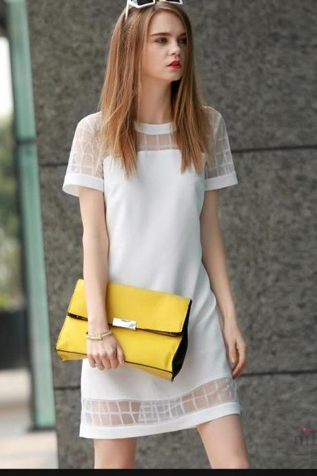 Cute white fresh design dress