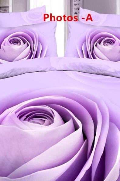fashion cotton flower active 3D large version of a family of four cotton bedding sheets four sets