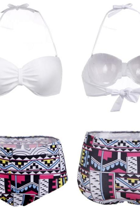 High Waist Bandage Bikini Set