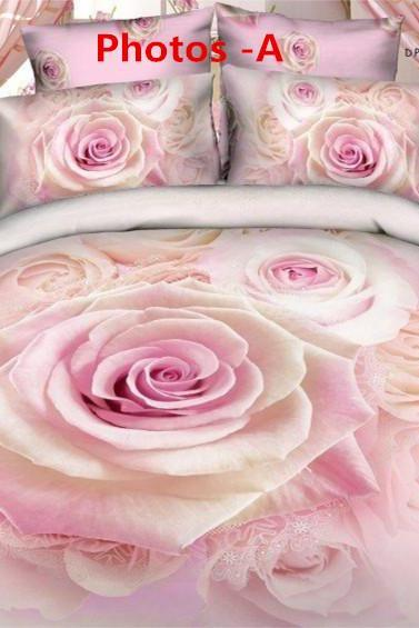 3D denim cotton textile cotton quilt bedding linen new special pink flower