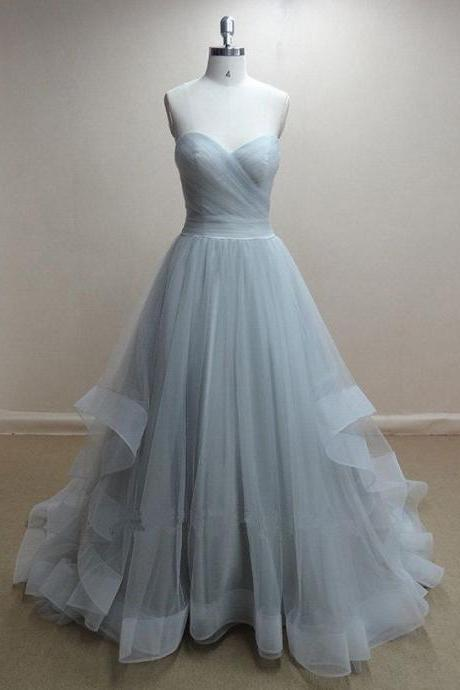 Princess A line Sweetheart Baby Blue Tulle Ball Gown Prom Dress,High Low Light Blue Short To Long Quinceneria Dresses,Custom Made Evening Gowns PD020