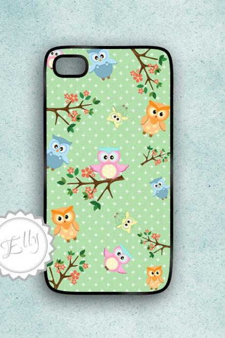 iPhone Owls Case and branches iphone4 case white clear black white sides