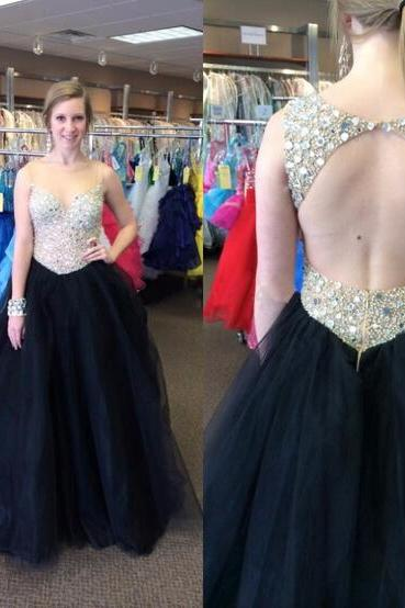 open back prom dress, off shoulder prom dress, black prom dress, gorgeous prom dress, backless prom dress, a line prom dress, sleeveless prom dress, popular prom dress, evening dress, occasion dress, BD361