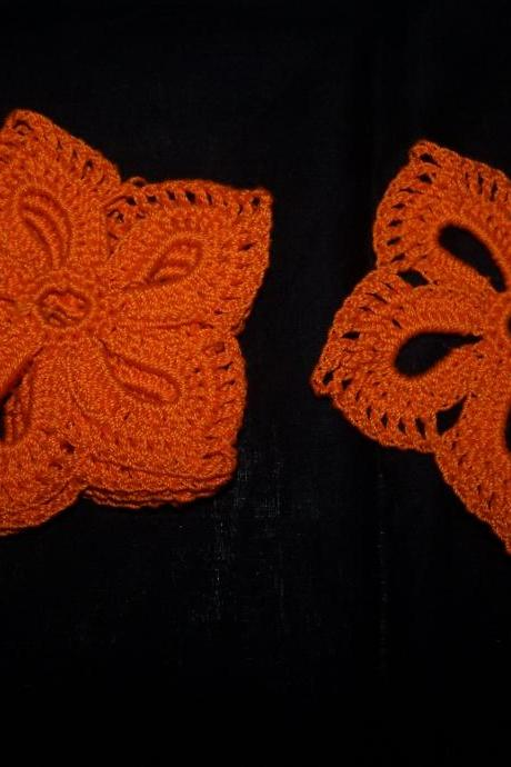 Orange crochet Doilies/Coasters/Applique