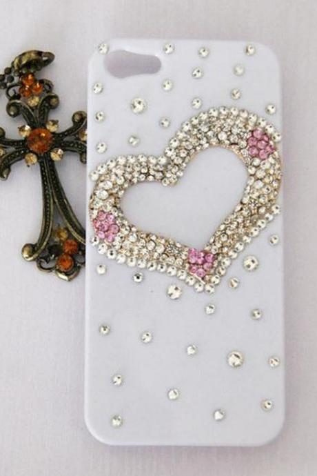 3D Bling Crystal Big Love Style Diamond iPhone 5 Case