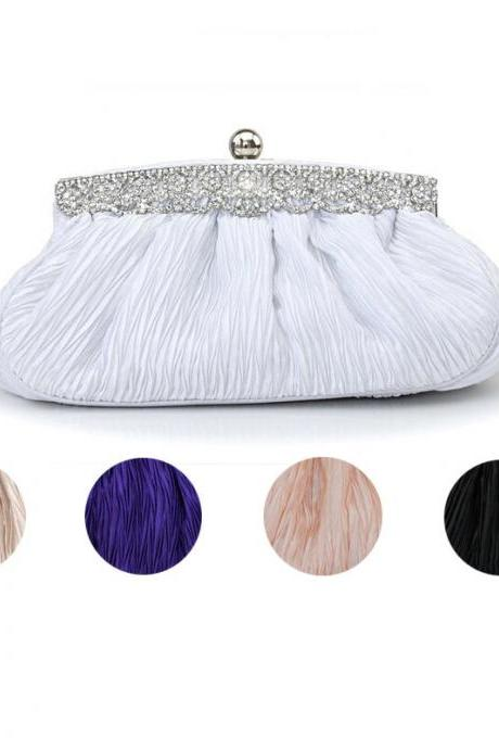Women banquet handbag fashion evening bags bride wedding gift bag fold style evening(NB10028)