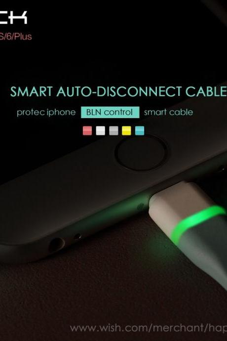 Brand ROCK Smart Auto-Disconnect Date Cable for iPhone 5/5s iPhone 6 6 Plus