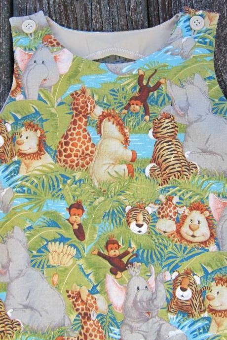 Jungle babies shortall for baby boy Size 3 month