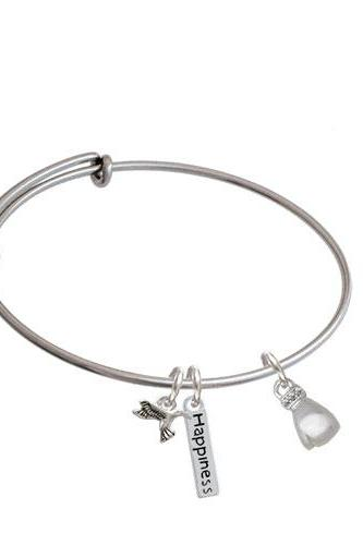 Small Boxing Glove Expandable Bangle Bracelet| Plating| Silver Tone