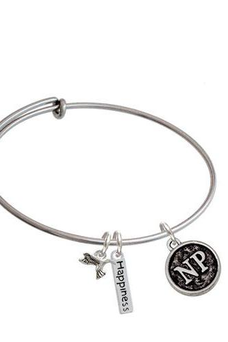 Nurse Caduceus Seal - Expandable Bangle Bracelet| Caduceus| NP