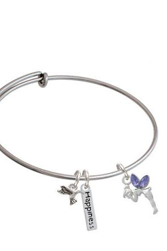 Small Fairy Expandable Bangle Bracelet| Color| Purple
