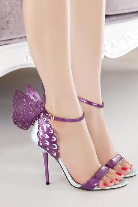 JOJO cat 2015 High quality European Women personality wedding high heels shoes woman Colorful butterfly open toe fashion sandals Valentine's bow party bridal plus size pumps shoes zapatos tacones de mujer drop shipping 800-1